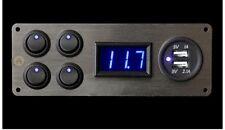 12v Campervan Switch Panel Vw Lights Voltmeter USB