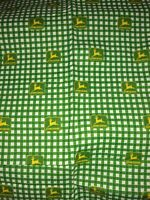 John Deere tractor logo Green 100% Cotton Fabric 1 yard crafts face mask