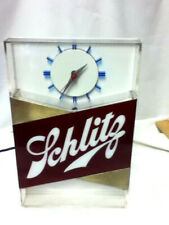Schlitz lighted clock beer sign blue moon old 1959 bar light register topper Me4