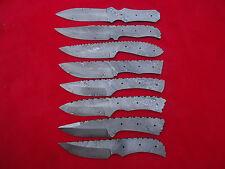CUSTOM MADE DAMASCUS BLADE 8 Pc's. BLANK KNIVES SET. (ZE-4055)
