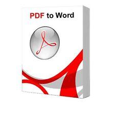 Pro pdf creator pack... convertir pdf to word & autres formats instantanément