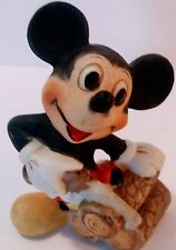 Vintage Disney Mickey Mouse Figurine  Mickey Sawing Wood 2.5 inches pre 1968