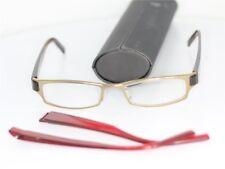 Prodesign Denmark Brille Gold Braun-Rot glasses lunettes FASSUNG Wechselbügel