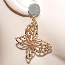 New York design elegante Super carino farfalline orecchini oro in vendita | eBay