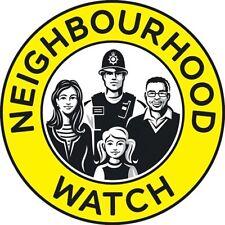 x2 Circular Window Stickers 10cm neighbourhood watch crime burglary safety home