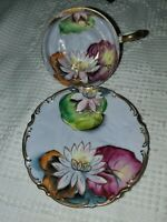 VINTAGENAPCO Hand-Painted Waterlily Cup & Saucer ~ EUC ~ PERFECT