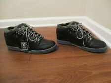 BNIB Size 13 Osiris NYC 83 Mid SHR Shearling Shoes Black & Charcoal