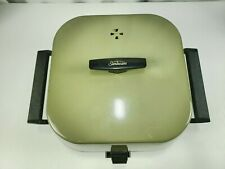 Vintage SUNBEAM Aluminum Olive/Green Electric Fry Pan Fryer Broiler 1250 Watts