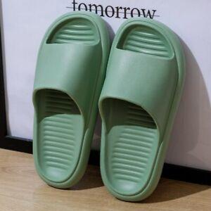 Slippers Women Summer Thick Sole Indoor Bathroom Soft Anti-slip Slides Shoes Men