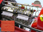 SMC Cloth Spark Plug Wire Monogram Revel Lindberg 1/8 Scale Bid Deuce T RED/YELL