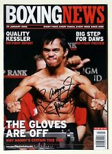 MANNY PACQUIAO Signed BOXING NEWS (20th January 2006) Team Pac Cert