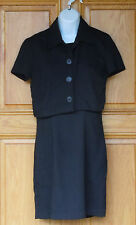 Francine Browner Ladies Size 5/6 Black Dress w/ Matching Top