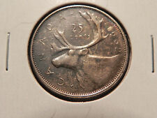 "~1962~  TWENTY FIVE CENTS CANADA,  NICE ""TONED""  SILVER COIN"