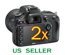 2x Clear LCD Screen Protector Guard Film For Nikon D600 Digital SLR Camera