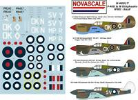 RAAF P-40K&M Kittyhawk WWII Decals 1/48 Scale N48017