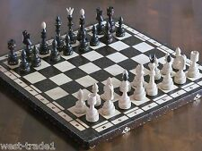 Brand New Luxury Hand Carved Indian Wooden Chess Set 54cm x 54cm