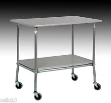 "High Quality Utility Cart with 32"" x 22"" Plastic Laminate Top - Made in the USA"