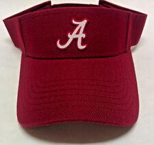 Alabama Crimson Tide Heat Applied Applique on Dk Red visor cap hat! Adjustable!