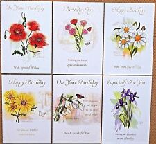 Pack of 6 Female Birthday Cards Female Ladies Floral Birthday Greeting Cards /w1
