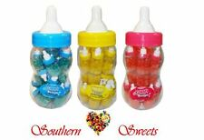 20 Mini Baby Bottles w Jelly Beans, Blue Pink or Yellow lids Lollies baby shower