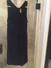 Ann Taylor Dress 10 Navy Blue Grecian Jersey Sheath NWT New Cruise Wedding