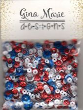 Gina Marie designs Sequin mix - USA patriotic mix - red white blue crystal