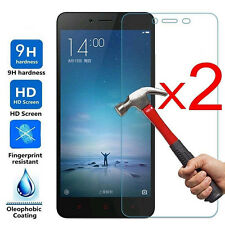 2 x 9H+ Tempered Glass Protective Screen Film Protector For Xiaomi Redmi Note 4