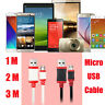 1/2/3M Micro USB 2.0 Fast Data Sync Charging Thick Cable For Andriod Phones Lot