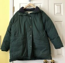 166aaef0cfa76 LL Bean Womens Goose Down Green Jacket Coat Removable Hood   Faux Fur  Petite XL