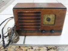Vintage 1938 EMERSON AX-217 INGRAHAM CABINET Working, needs a new cord