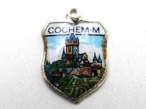 COCHEM  vintage silver shield enamel travel town souvenir charm