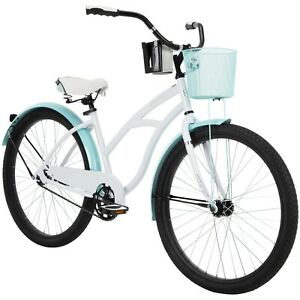 Huffy 26 In. Carlisle Women's Comfort Cruiser Bike, White Free Shipping New