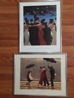 The Singing Butler Print 1994 & Waltzers Print 2001 19.75x15.75 Jack Vettriano..