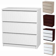 Kommode Mit 3 Schubladen Sideboard Weiß Anrichte Holz