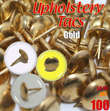 Upholstery Studs Pack Antique Studs Bag 100 Tacks/Nails Tacs Brass / Gold