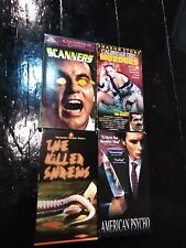 The Killer Shrews, American Psycho, Scanners, Calender Girl Murders Vhs Horror