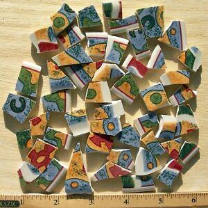 Blue & Green  Abstract Tiles Broken Cut China Mosaic Tiles
