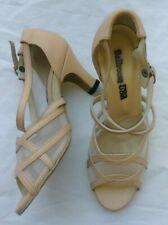 Ballroom USA Dance Shoes Tan Leather W Mesh Sz 4.5
