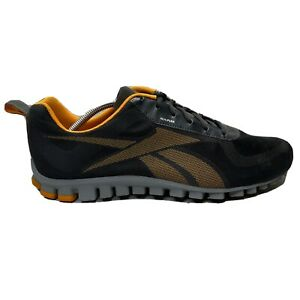 Reebok RealFlex Running Shoes Mens Size 11.5 11 1/2 Black Gray Sneaker 105184756