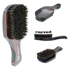 Curved Soft Boar Bristle Wave Hair Club Brush Wooden Handle 00552 Premium NEW