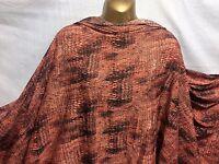 L//poids polyester microfibre rose imprimé cachemire robe//Craft Tissu NEUF