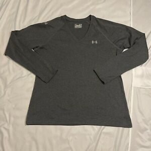 Under Armour T Shirt Women's Xl Long Sleeve Gray Used BY76