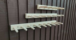 Welly wellington wellies wooden rack boot holder wall mounted 1 2 3 4 5 6 8 10