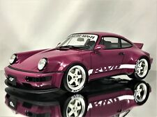 GT Spirit RWB Porsche 911 (964) Carrera Duck Tail Rauh-Welt Begriff Purple 1:18