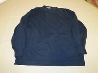 Gran Sasso Mens navy blue sweater no size in lable long sleeve shirt EUC @