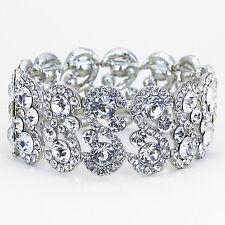 Beautiful Vintage Inspired Crystal Rhinestone Bridal Bracelet (Sparkle-1390-U)