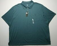 NEW Van Heusen Mens Polo Shirt Size 4XL Short Sleeves Cotton Rayon Polyester