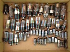 MIXED ESTATE LOT OF 52 VTG RADIO VACUUM TUBES,RCA,PHILCO,SYLVANIA,TUNG-SOL,GE +