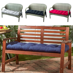 2/3 Seater Bench Swing Chair Cushion Seat Pad Garden Furniture Indoor Outdoor UK