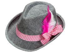 Trachten Hut mit Federn pink für Damen und Herren NEU - Karneval Fasching Hut Mü